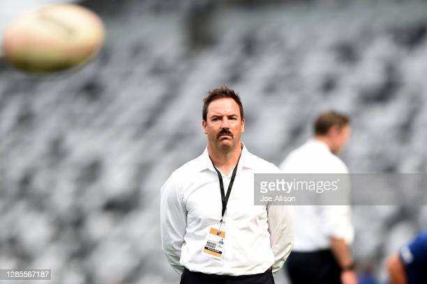 Assistant coach Ryan Martin of Otago looks on ahead of the round 10 Mitre 10 Cup match between Otago and Tasman at Forsyth Barr Stadium on November...