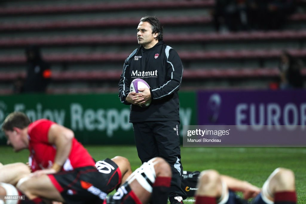 Assistant coach Sebastien Brunoof Lyon during the European Challenge Cup match between Toulouse and Lyon on December 7, 2017 in Toulouse, France.