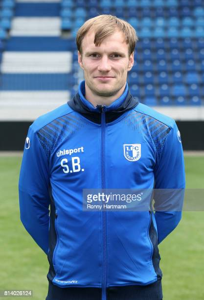 Assistant coach Silvio Bankert poses during the team presentation of 1 FC Magdeburg at MDCCArena on July 13 2017 in Magdeburg Germany