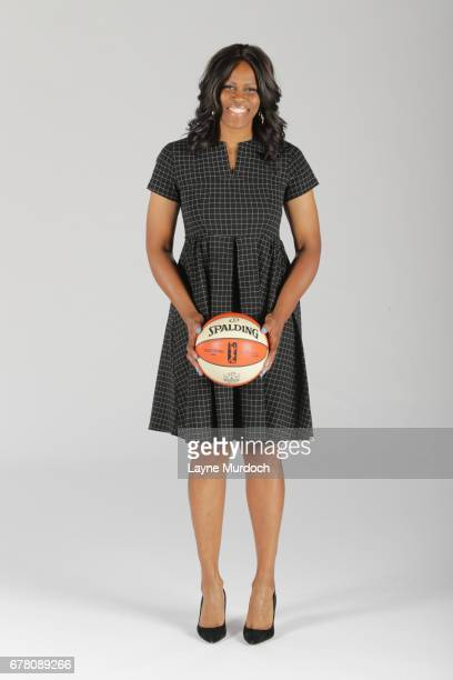 Assistant Coach Taj McWilliams of the WNBA Dallas Wings poses for portraits on May 2 2017 at College Park Center in Arlington Texas NOTE TO USER User...
