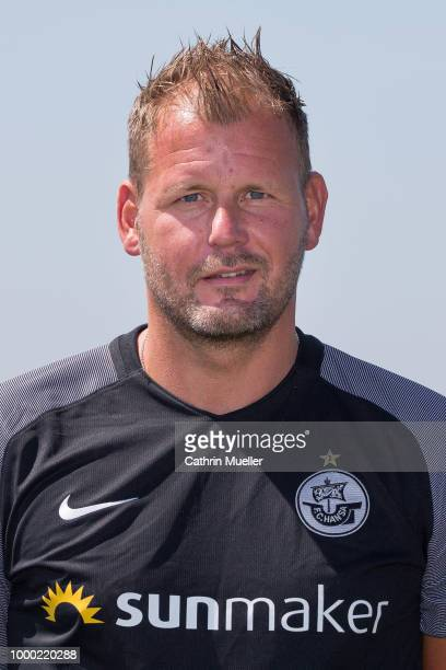 Assistant Coach Uwe Ehlers of Hansa Rostock poses for a photo during a team presentation on July 16 2018 in Rostock Germany