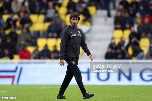 Assistant coach Xavier Garbajosa of La Rochelle during the French Top 14 match between La Rochelle and Montpellier on April 30 2017 in La Rochelle...