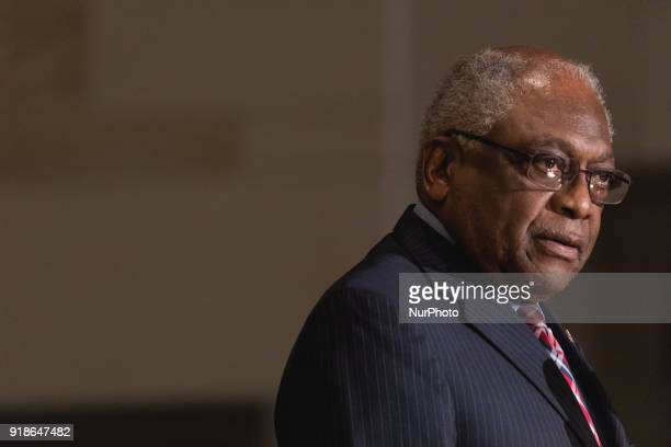 Assistant Democarat Leader James Clyburn speaks at the Commemoration of the Bicentennial of the Birth of Frederick Douglass in Emancipation Hall of...