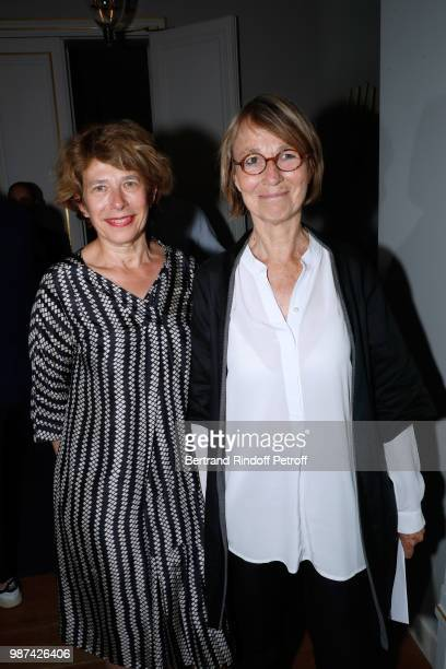 Assistant director for the visual arts in the artistic creation branch Beatrice Salmon and French Minister of Culture Francoise Nyssen attend the...