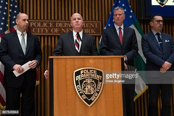 FBI Assistant Director in Charge of New York Bill Sweeney New York City Police Commissioner James O'Neill New York City Mayor Bll de Blasio and New...