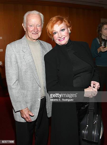 Assistant director Micky Moore and actress Ann Robinson attend AMPAS' 'George Pal Discovering the Fantastic' on August 27 2008 in Beverly Hills...