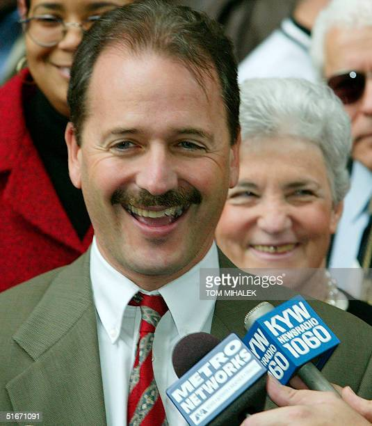 Assistant District Attorney Joel Rosen the prosecutor in the Ira Einhorn murder trial smiles as he answers reporters' questions outside the Criminal...
