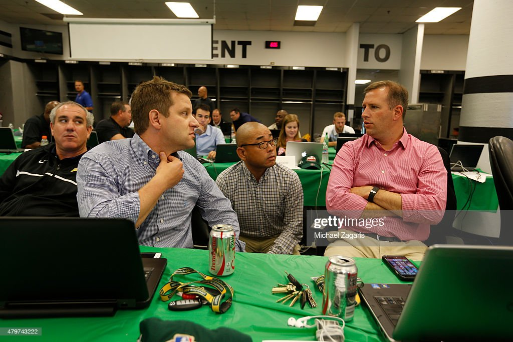Oakland Athletics 2015 MLB Draft Room : News Photo