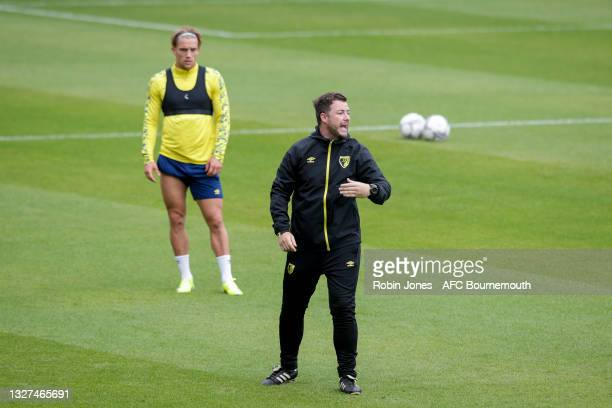 Assistant Head Coach Matt Wells of Bournemouth during a pre-season training session at Vitality Stadium on July 07, 2021 in Bournemouth, England.