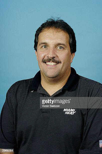 Assistant head coach Stan Van Gundy of the Miami Heat poses for a portrait during NBA Media Day on September 30 2003 in Miami Florida NOTE TO USER...