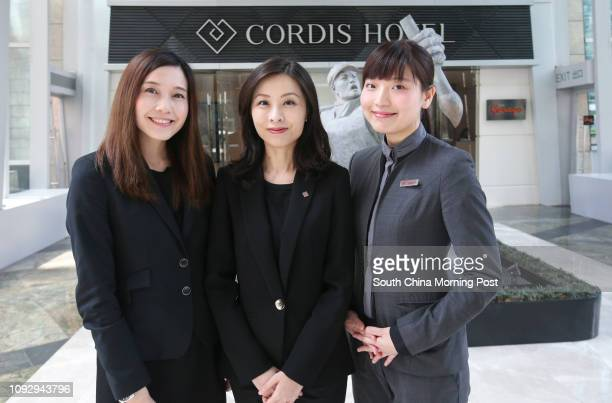 Assistant Human Resources Manager Jacqueline Cheng Director of Human Resources Janet Yeung and Front Office Duty Manager Nicole Tang at the Cordis...