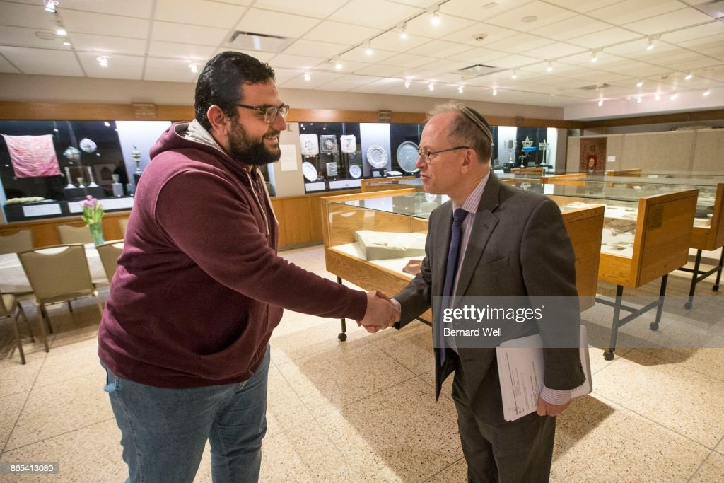Toronto On May 10 Assistant Imam Ayman Elkasrawy Met With Rabbi News Photo Getty Images
