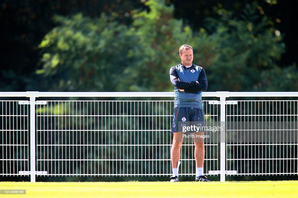 Assistant manager Hans Vander Elst of OHL during the OHL training session on August 10th, 2018 in Leuven, Belgium.