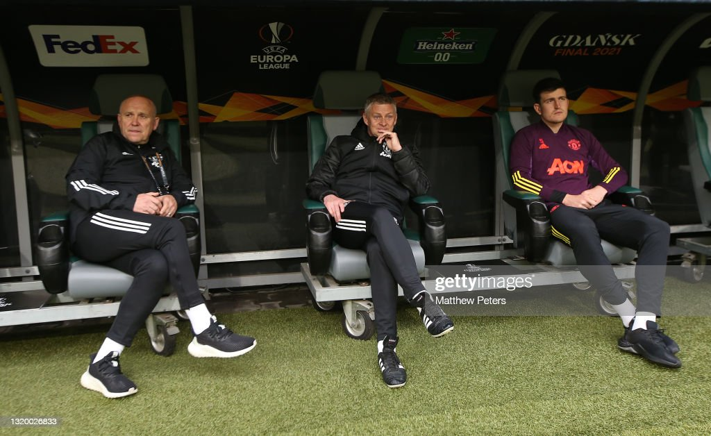 Manchester United FC Training Session and Press Conference - UEFA Europa League Final 2021 : News Photo