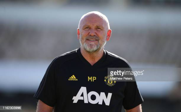 Assistant manager Mike Phelan of Manchester United in action during a first team training session as part of their pre-season tour of Australia,...