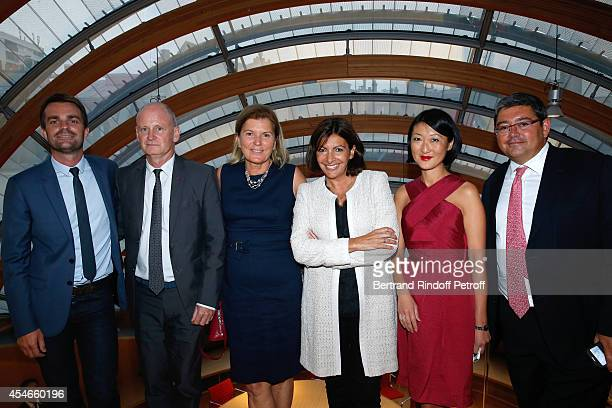 Assistant Manager of Anne Hidalgo Mayor of 4th district of Paris Christophe Girard CEO of the 'Jerome Seydoux Pathe Foundation' Sophie Seydoux Mayor...
