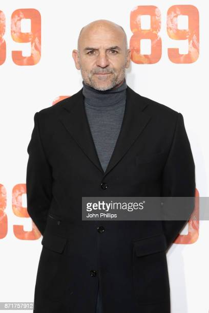 Assistant Manager of Arsenal FC Steve Bould arriving at the 89 World Premiere held at Odeon Holloway on November 8 2017 in London England