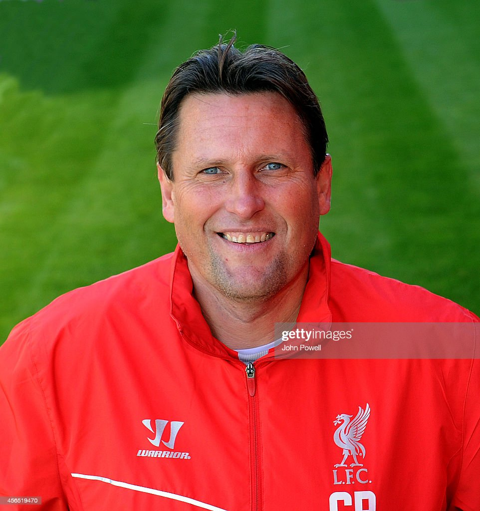 Assistant manager of Liverpool Colin Pascoe poses during a Team Portrait session at Melwood Training Ground on October 2, 2014 in Liverpool, England.