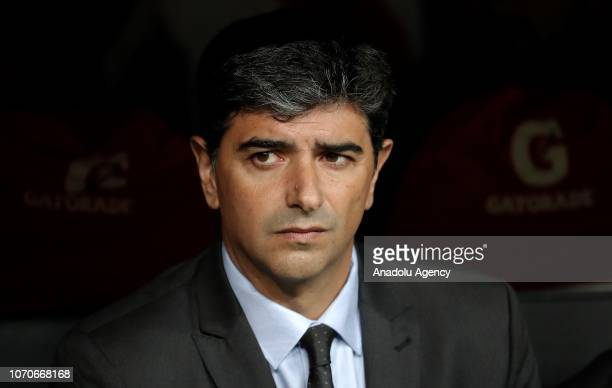 Assistant manager of River Plate Matias Biscay is seen during the second leg of the final match of Copa Libertadores soccer match between River Plate...