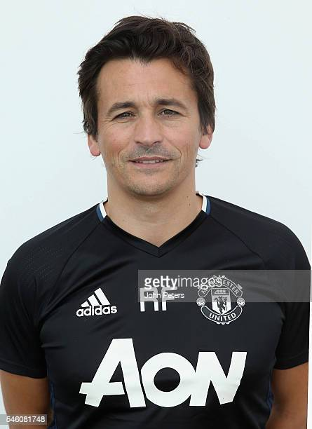 Assistant Manager Rui Faria of Manchester United poses at Aon Training Complex on July 8 2016 in Manchester England