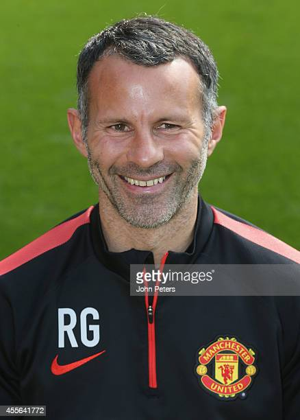 Assistant Manager Ryan Giggs of Manchester United poses during the annual club photocall at Old Trafford on September 16 2014 in Manchester England
