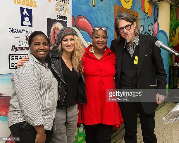 Assistant Principal Latasha Skidmore, singer-songwriter Tori Kelly, Principal Bridgette B Fricke, and GRAMMY Foundation Vice President Scott Goldman...