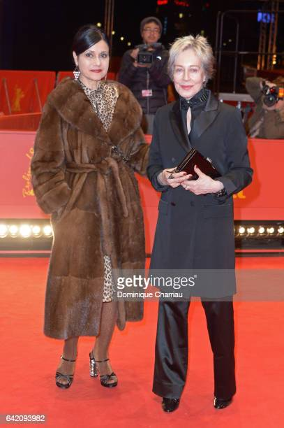 Assistant Raffaella Fandasia and costume designer Milena Canonero attend the 'The Shining Hommage Milena Canonero' photo call during the 67th...