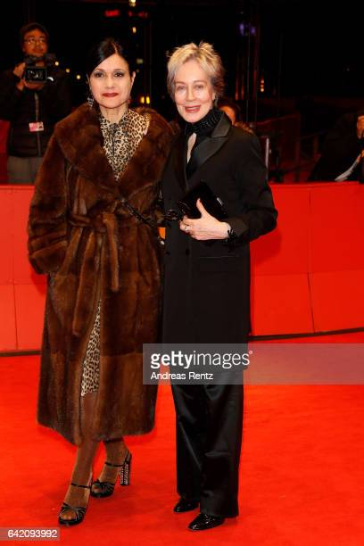 Assistant Raffaella Fandasia and costume designer Milena Canonero attend the 'The Shining Hommage Milena Canonero' premiere during the 67th Berlinale...