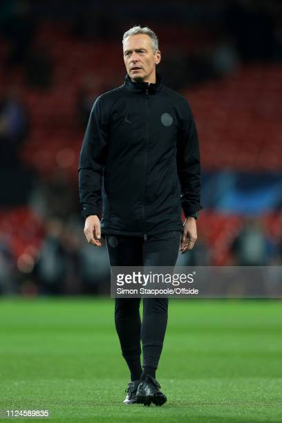 PSG assistant Rainer Schrey looks on ahead of the UEFA Champions League Round of 16 First Leg match between Manchester United and Paris SaintGermain...