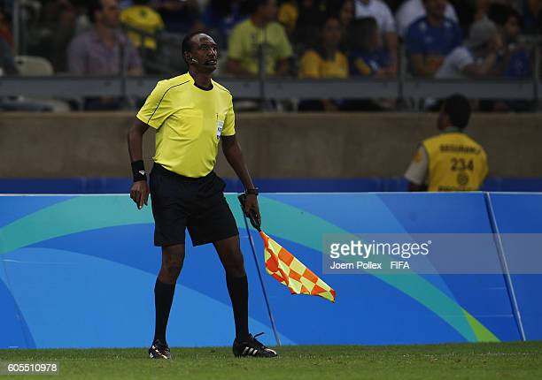 Assistant Referee 2 Waleed Ahmed during the Men's Quarter Final match between Republic of Korea and Honduras on Day 8 of the Rio2016 Olympic Games at...