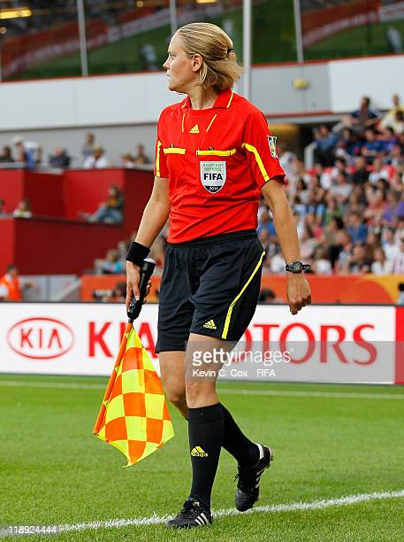 Assistant referee Anna Nystrom of Sweden during the FIFA Women's World Cup 2011 Quarter Final match between England and France at the FIFA Women's...