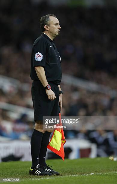 Assistant Referee Darren Cann during the Barclays Premier League match between West Ham United and West Bromwich Albion at Boleyn Ground on January 1...