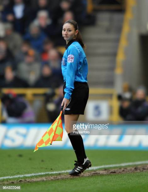 Assistant referee Sian Massey during the Barclays Premier League match between Wolverhampton Wanderers and Liverpool at Molineux on January 22, 2011...