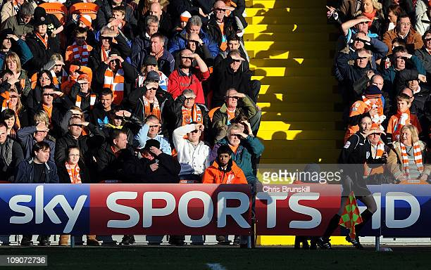Assistant Referee Sian Massey in action during the Barclays Premier League match between Blackpool and Aston Villa at Bloomfield Road on February 12,...