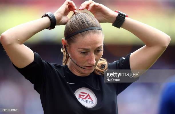 Assistant Referee SMasseyEllis during Premier League match between Crystal Palace and Chelsea at Selhurst Park Stadium London England on 14 Oct 2017