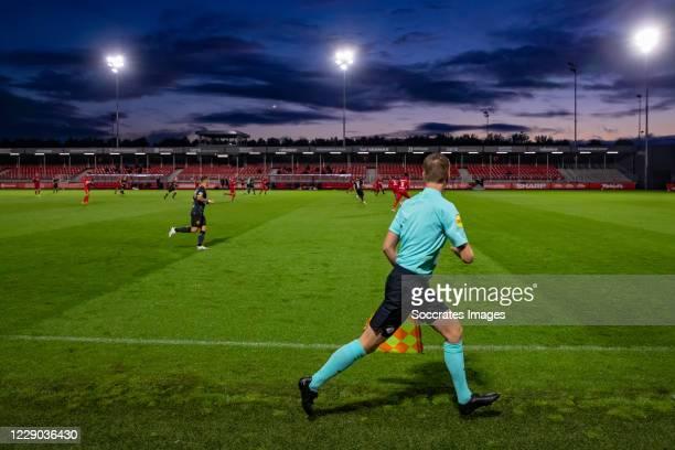 Assistant referee Stefan de Groot during the Dutch Keuken Kampioen Divisie match between Almere City v Roda JC at the Yanmar Stadium on October 10,...