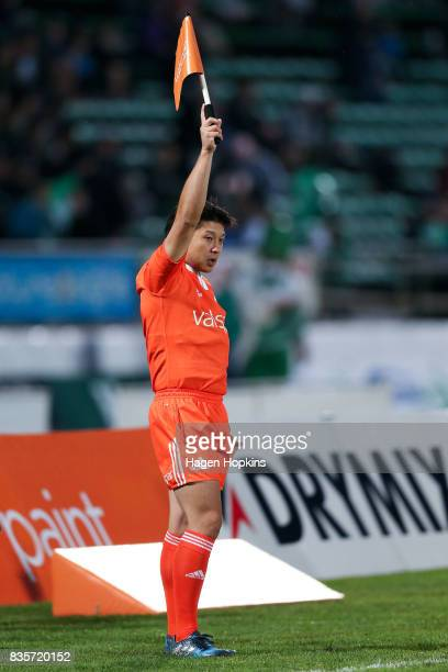 Assistant referee Teruhisa Kajiwara in action during the round one Mitre 10 Cup match between Manawatu and Wellington at Central Energy Trust Arena...