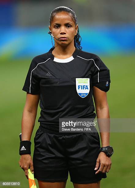 Assistant Referee Yoleida Lara Cabarcas prior to the Women's First Round Group E match between China PR and Sweden on Day 4 of the Rio 2016 Olympic...