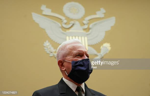 S Assistant Secretary for Health and Human Services Admiral Brett P Giroir waits to testify at the start of a House Select Subcommittee on the...