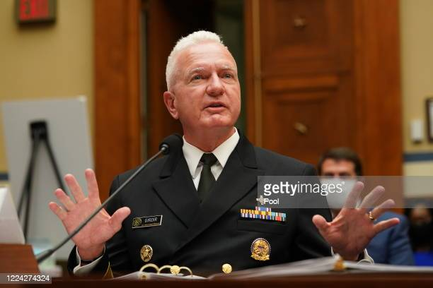 S Assistant Secretary for Health and Human Services Admiral Brett P Giroir testifies at a House Select Subcommittee on the Coronavirus Crisis hearing...