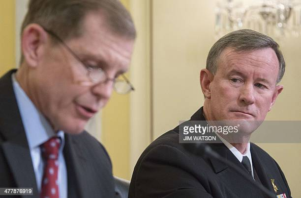 Assistant Secretary Of Defense For Special Operations/LowIntensity Conflict Michael D Lumpkin and Commander of US Special Operations Command Admiral...