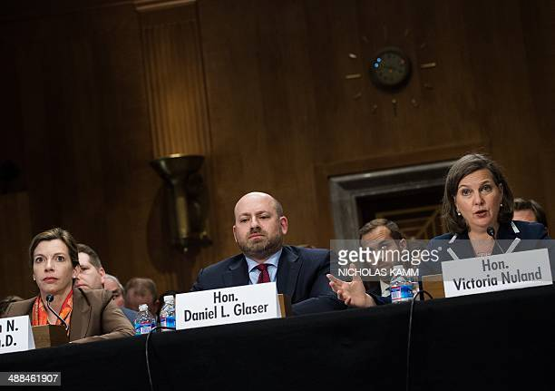 US Assistant Secretary of State for European and Eurasian Affairs Victoria Nuland testifies before a Senate Foreign Relations Committee hearing on...