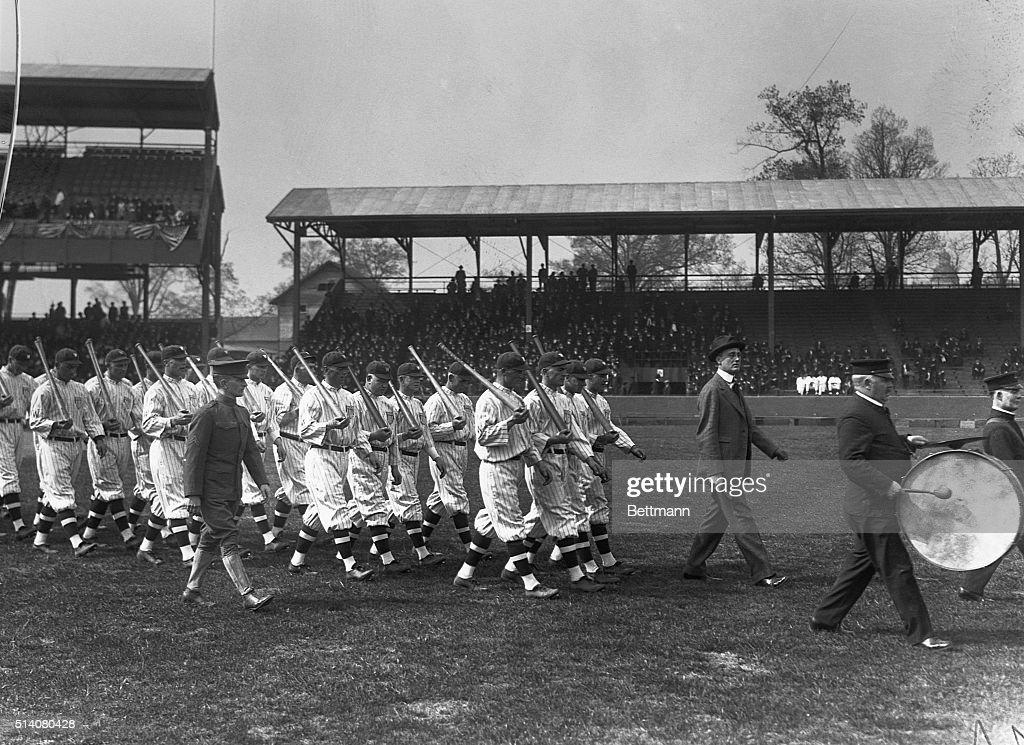 Franklin D. Roosevelt Opening Baseball in Washington : News Photo
