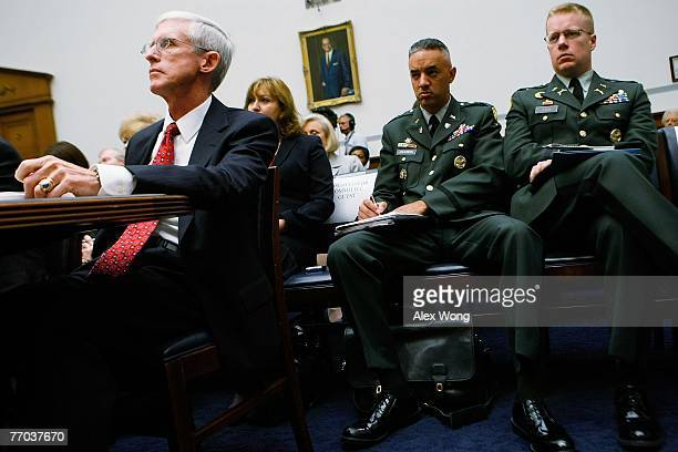 Assistant Secretary of Veterans Affairs for Policy and Planning Patrick Dunne listens during a hearing before the National Security and Foreign...