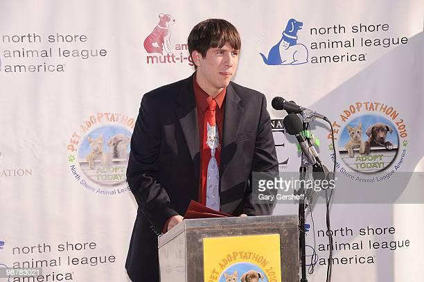 Assistant to New York State Senator Craig Johnson, Jonathan Howe attends Animal League's Global Pet Adoptathon at North Shore Animal League America...