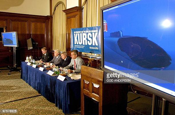 Assistant to the President of the Russian Federation Sergei Yastrzhembsky Mikhail Barskov Viceadmiral of the Russian Navy Igor Spassky chief designer...