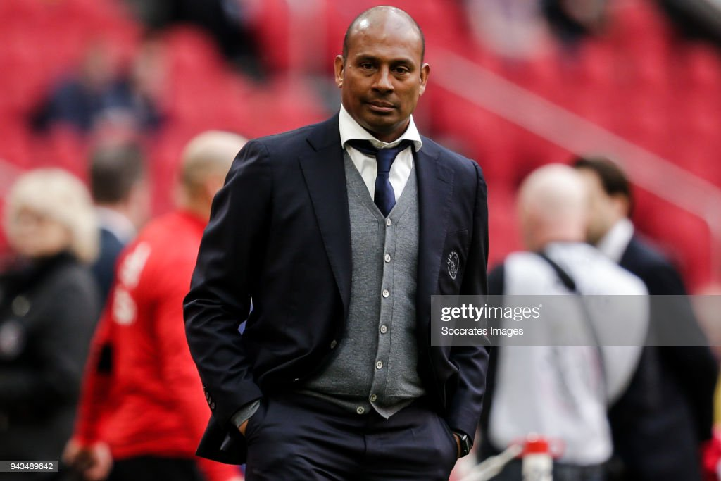assistant trainer Aron Winter of Ajax during the Dutch Eredivisie match between Ajax v Heracles Almelo at the Johan Cruijff Arena on April 8, 2018 in Amsterdam Netherlands