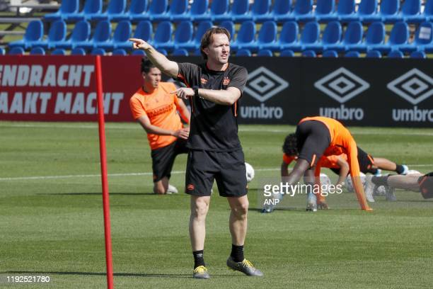 PSV assistant trainer Boudewijn Zenden during the training camp of PSV Eindhoven at the the Aspire Academy on January 08 2020 in Doha Qatar