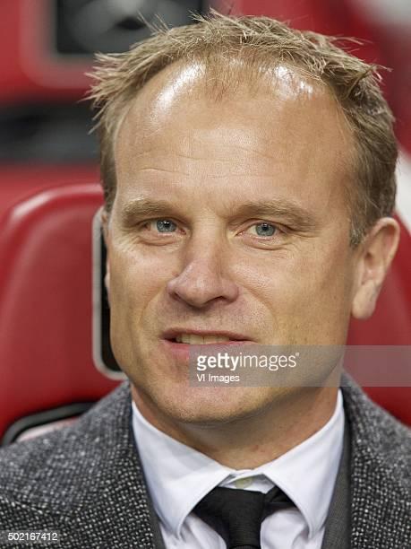 assistant trainer Dennis Bergkamp of Ajax during the Dutch Eredivisie match between Ajax Amsterdam and De Graafschap at the Amsterdam Arena on...