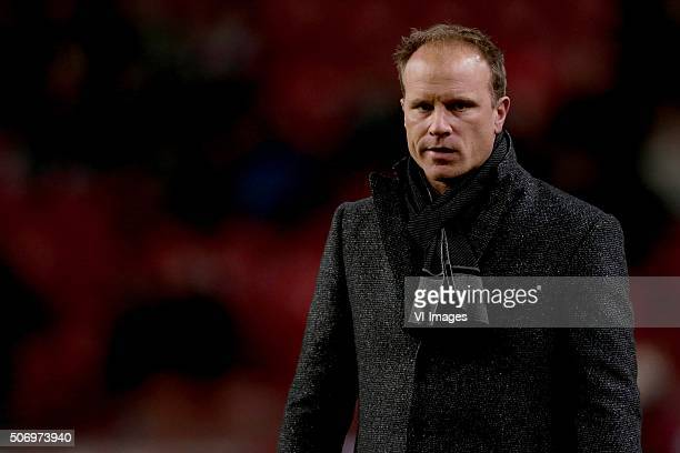 assistant trainer Dennis Bergkamp of Ajax during the Dutch Eredivisie match between Ajax Amsterdam and Heracles Almelo at the Amsterdam Arena on...